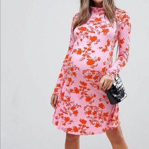 ASOS maternity floral mini dress